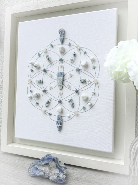 canvas crystal grid