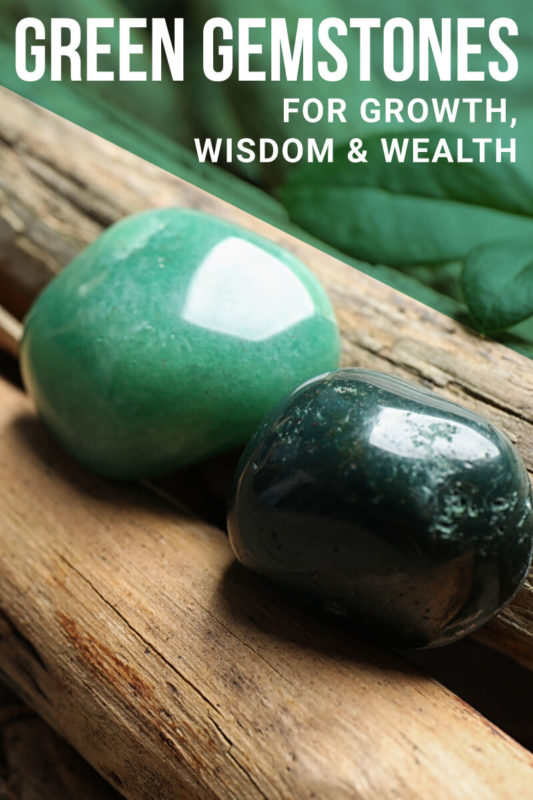 green healing stones